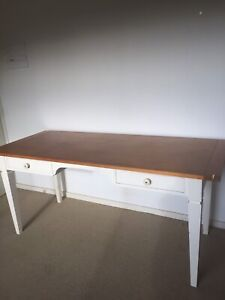 Solid timber 2 drawer writing desk