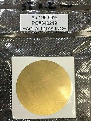 Sem Sputtering Target Gold 99.99 Pure 57mm Diameter X 0.2mm Thick
