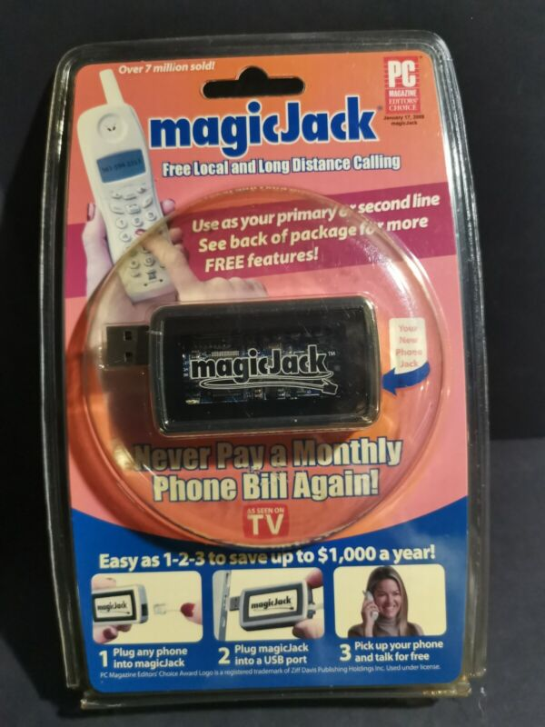 MAGIC JACK Telephone System Free Local & Long Distance Calling As Seen On TV New
