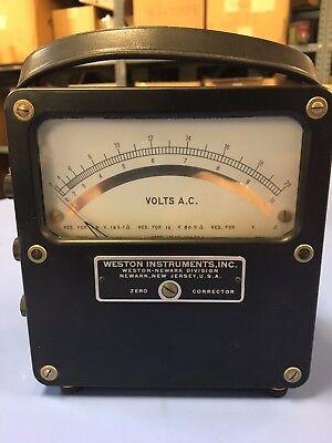 Vintage Weston Instruments Meter Volts A.c.