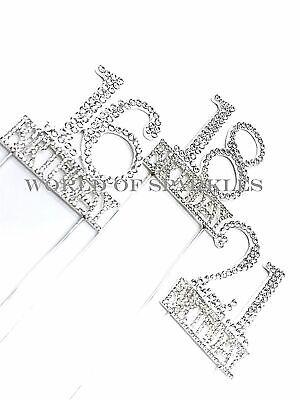 Plata 5.5cm Número Pincho Tartas Decoración Diamante 30 Cumpleaños Age Accesorio