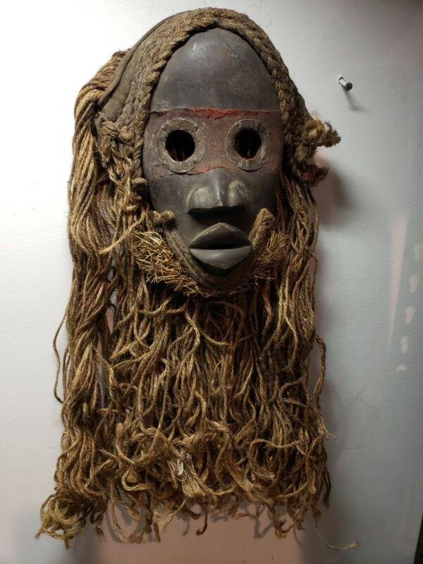 African Dan Mask Rope Hair - Nice