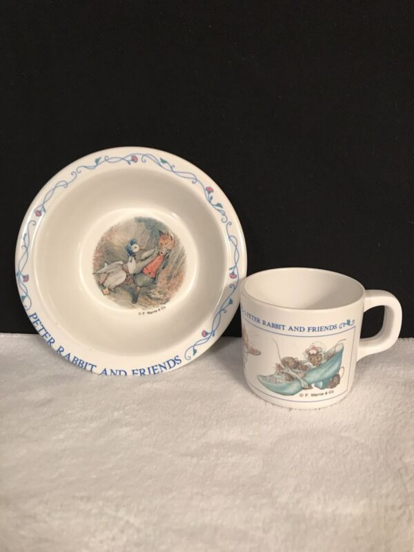 Adorable Eden Peter Rabbit And Friends Bowl and Cup Set