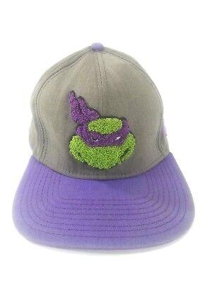 Nickelodeon Donatello Teenage Mutant Ninja Turtle Snapback Hat Gray Purple