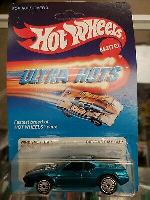 Hot Wheels WIND SPLITTER 1983 Vintage Ultra Hots Blue MOSC BP MOC Rare 1980s