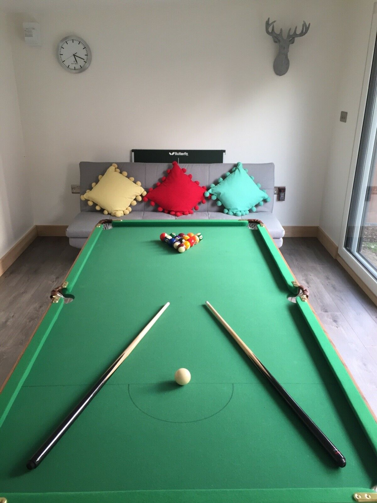 Excellent condition 6ft Folding Pool and Table Tennis Table