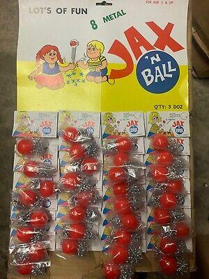 Jax N Ball 8 Ball Set 3 Dozen On A Card. Brand New. Vintage.