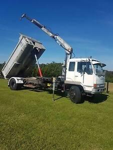 Mitsubishi tipper. FM515. 1985 model. Crane truck. Orangeville Wollondilly Area Preview