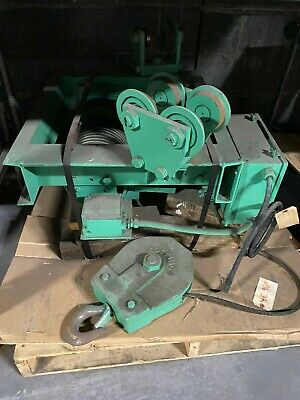 Chester 3 Ton Wire Rope Electric Hoist 20 Fpm Plain Trolley 12 Lift Wd660rb
