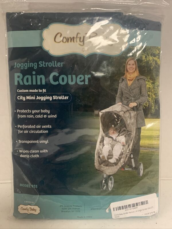 Comfy Baby 910 Universal Single Jogging Stroller Rain Cover/Wind Shield Free S/H