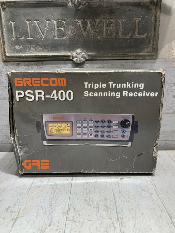 GRECOM PSR-400 Triple Trunking Scanning Receiver Brand New In The Box