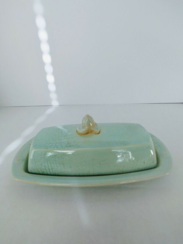 Vintage Lu ray Pastels TS&T co. butter dish dining collectable mid century surf