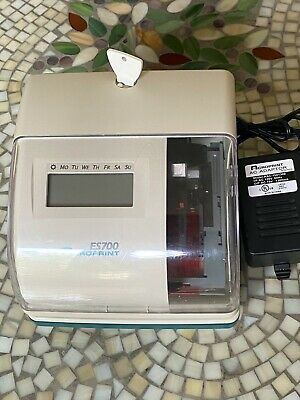 Acroprint Es700 Time Date Employee Time Recorder Punch Clock With Key Works