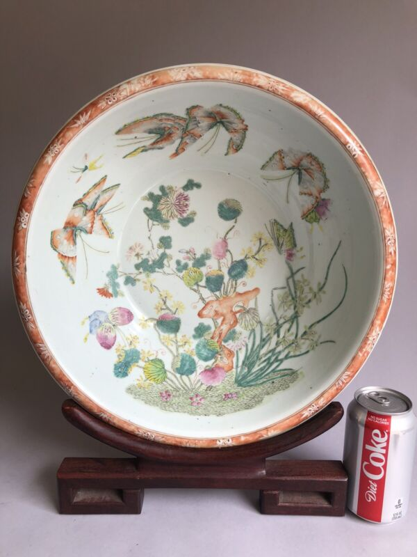 Antique Chinese Famille Rose Bowl 19th Century