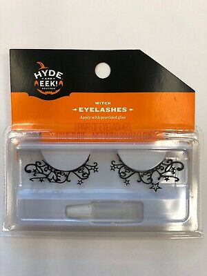 Halloween Witches Eye Makeup (1 pair Hyde and Eek False eye lashes stars witch Halloween costume)