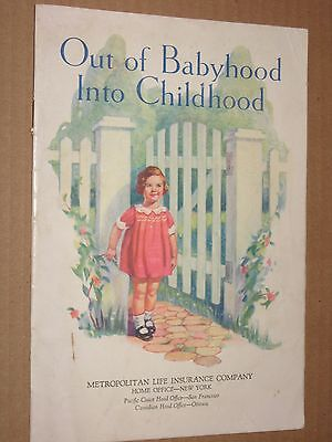 Out of Babyhood Into Childhood - Vintage c.1930's Met Life Booklet
