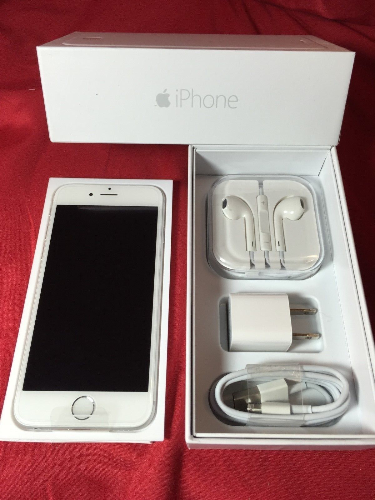 New Apple iPhone 6 16GB Silver Factory GSM Unlocked 4G LTE Smartphone