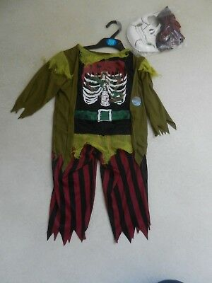 Spencer Halloween-kostüm (BNWT M&S Halloween Pirate Skeleton Costume Dress Up Age 5-6 Years Marks Spencers)