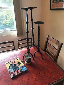 Wrought iron candlesticks (x3) Croydon Burwood Area Preview