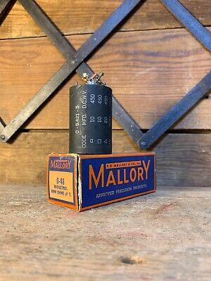 Mallory Midgetrol U-48 500m Ohms Taper Electronic Resistors Nos In Box Old Store
