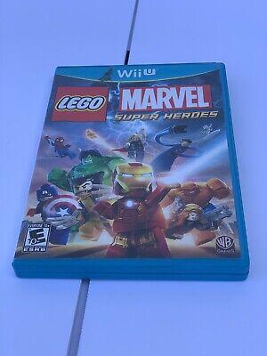 Lego Marvel Superheroes - Nintendo Wii U - 2013 - No Scuffs to disc