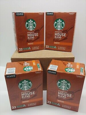 88 Starbucks House Blend  K-Cup Coffee Pods, 4 boxes, 1 Case  exp- 12/16/2020