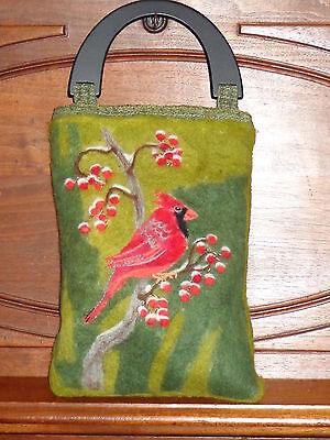 Felted Tote Bag (Cardinal)/Folk Art