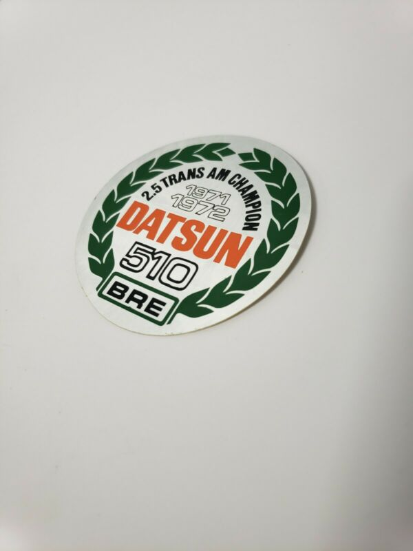 ORIGINAL NOS Datsun Nissan 510 BRE 2.5 Trans Am 1971 1972 Championship Sticker