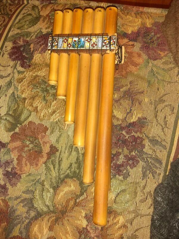 Handmade PanPipe Flute Wooden Latin Folk Music Unknown maker Woodwind instrument