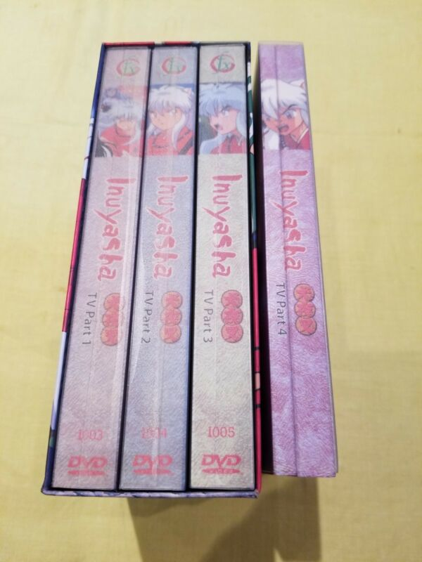 Inuyasha The Movie Collection Movie TV part 1,2,3 and 4 . 12 DVD Discs