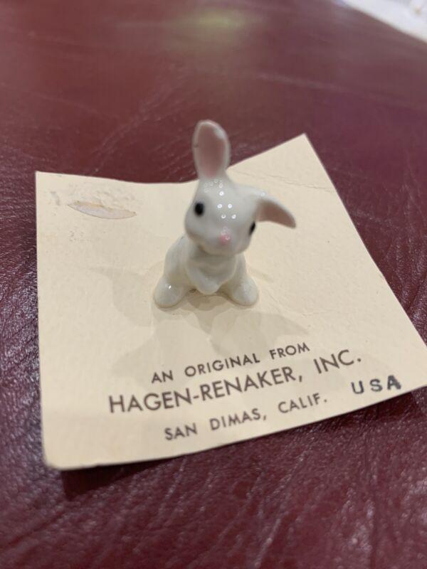 Adorable Hagen Renaker Baby Rabbit Figurine Miniature Porcelain