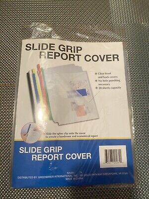 6 Pack Clear Slide Grip Report Covers Ldocument Presentation Project Folder