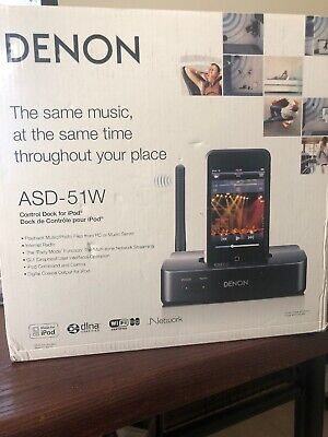 Denon ASD-51W Networking Client Dock with WiFi for iPod / iPhone Denon Ipod Dock