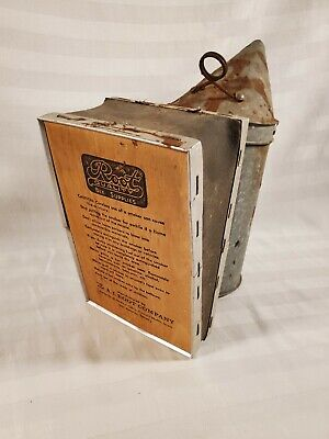 Vtg Bee Hive Smoker A.i. Root Company Leather Bellows Nice Compression