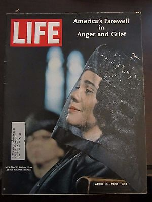 Life Magazine Coretta Scott King Martin Luther King Funeral Grief April 1968