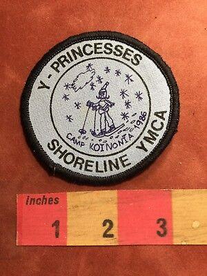 Vtg Snow Ski CAMP KOINONĪA 1986 Shoreline YMCA Y-Princesses Patch 89XB
