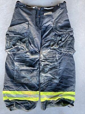 Firefighter Janesville Lion Apparel Turnout Bunker Pants 40x30 Black Costume 08