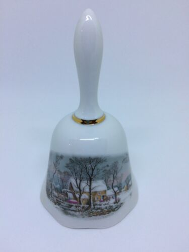 Avon Products Inc 1978 Representative Award Bell Winter Scenery Preowned
