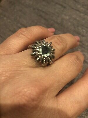 David Yurman Starburst Ring Prasiolite Stone. Size 6.5