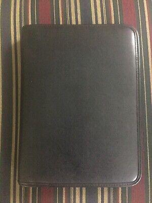 Day-timer 7-ring Black Portfolio With Zipper 8 X 10.5
