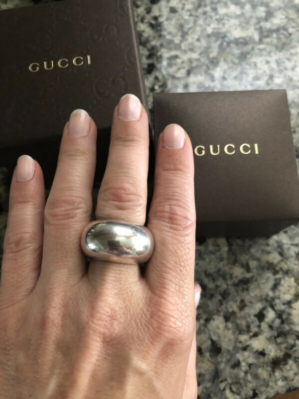 Gucci Sterling Silver Bold Dome Bombe Band Ring - 29.2 grams