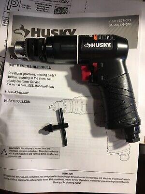 "Husky H4310 Keyed Chuck Reversible Power Air Drill 3/8"" New"