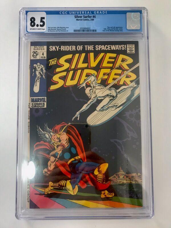 SILVER SURFER # 4 (Feb 1969) CGC 8.5 VF+  MARVEL