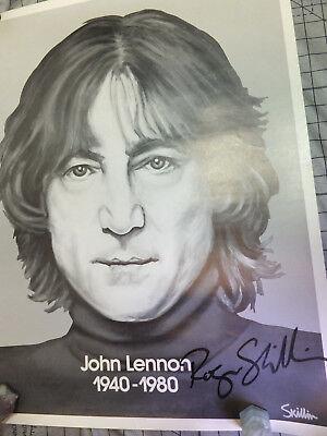 John Lennon Original Vintage Poster  Sketch Print 1940to1980 Signed
