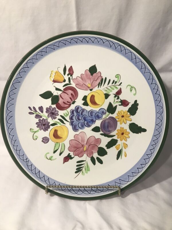 """Stangl 12"""" Round Charger/ Serving Platter Fruit And Flowers"""
