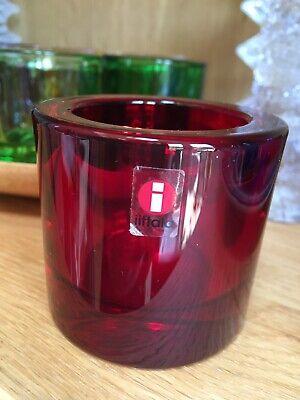 Iittala Kivi Votive Tea Light Discontinued Rare Red