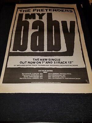 The Pretenders My Baby Rare Original UK Promo Poster Ad Framed!