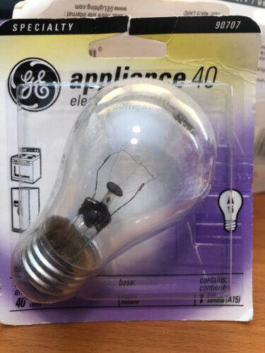 Fast Ship GE 90707 Appliance Light Bulb 40W A15 Medium Base
