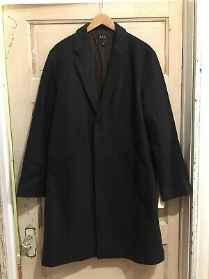A.P.C. Men's Wool Blend Coat Size Medium