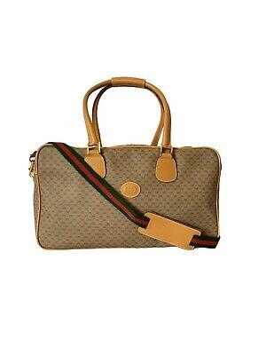 Gucci Vintage Mini GG Monogram Web Duffle Bag